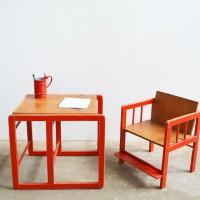 Loft design Set gyerek asztal szék Kind Tische Stühle child tables chairs