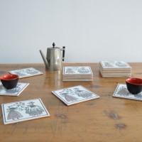 Loft design régi csempe tile Fliese poháralátét Coasters Untersetzer