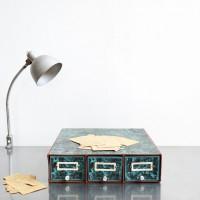 Loft design papírszekrény Papierschrank paper cabinet fiókos tároló storage drawer Speicherfach