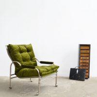 Loft design krómvázas fotel Sessel mit Chromgestell chrome frame armchair ipari industrial industriell shabby chic rusty style artkraft