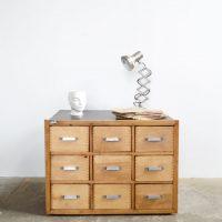 Loft design ipari sokfiókos szekrény Industrial cabinet with drawers Industrie Schubladenschrank shabby chic rusty style artkraft