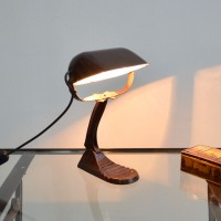loft design régi bankár lámpa classical banker's lamp Klassische Bankierslampe