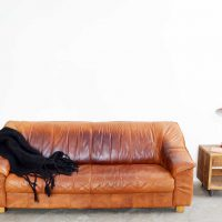 Loft design régi bőrkanapé old leather sofa große alte Ledersofa ipari industrial industrie shabby chic rusty style artkraft