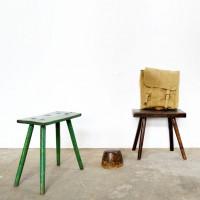 Loft design Régi fejőszék Melkschemel Old milking stool ipari industrial industriell shabby chic rusty style artkraft