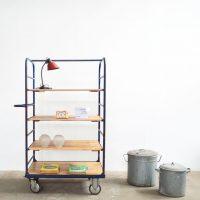 Loft design vasvázas polc Eisenrahmen Regal iron frame shelf könyvespolc bookshelf Bücherregal tárolószekrény sideboard Anrichte ipari industrial industriell shabby chic rusty style artkraft