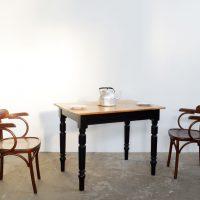 Loft design ébenfekete étkezőasztal ebony black dining table Ebenschwarz Esstisch íróasztal desk Schreibtisch ipari industrial industriell shabby chic rusty style artkraft