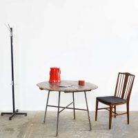 Loft design tölgyfa-hordó körasztal Eichenfässer runder Tisch oak-barrel round table étkezőasztal dining table Esstisch ipari industrial industriell shabby chic rusty style artkraft