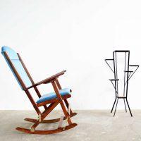 loft design összecsukható régi vintage hintaszék vintage rocking chair Schaukelstuhl ipari industrial industriell shabby chic rusty style artkraft