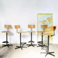 Loft design Magasított szék bárszék Industrial bar stool high chair Industrie Barhocker Hochstühle