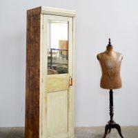 Loft design régi tükrös szekrény alter Spiegelschrank old mirror cabinet ipari industrial industriell shabby chic rusty style artkraft