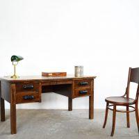 Loft design régi tölgy íróasztal old oak desk alter Eichenschreibtisch ipari industrial industriell shabby chic rusty style artkraft