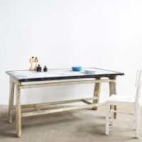 Loft design bádogtetős tin-roofed large table Blechdach Tisch étkezőasztal dining table íróasztal desk Schreibtisch ipari industrial industriell shabby chic rusty style artkraft