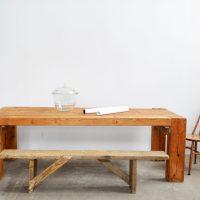Loft design gerenda nagyasztal beam large table Strahl großer Tisch étkezőasztal Esstisch dining table tárgyalóasztal conference table Konferenztisch ipari industrial industriell shabby chic rusty style artkraft