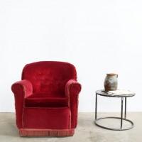 Loft design bordó kis olvasófotel Burgundy small reading chair bordeaux kleiner Lesesessel ipari industrial industriell shabby chic rusty style artkraft