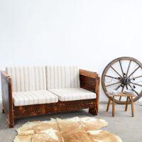 Loft design újrahasznosított kanapé recycling-Sofa recycled sofa ágyvég headboard Kopfbrett ipari industrial industriell shabby chic rusty style artkraft