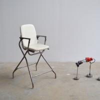 loft design régi gyerek etető szék old baby highchair alte Kinderhochstuhl