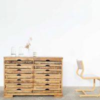 Loft design fiókos szekrény Kommode Chest of drawers ipari industrial industriell shabby chic rusty style artkraft