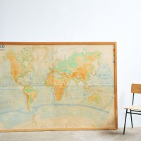 Loft design Óriási régi világtérkép Riesige Weltkarte Huge World Map dekoráció dekoration decoration