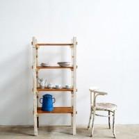 Loft design polcos szekrény könyvespolc bookshelf Bücherregal kenyeres polc bread shelf Brotregal