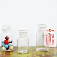 loft design régi bolti szatócs üvegek old shop glass alte glas flaschen laden