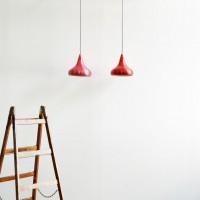 Loft design piros lámpa graceful red light würdevolle rotes Licht mennyezeti lámpa Deckenleuchten ceiling Lights