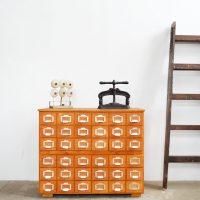 Loft design sokfiókos kartoték szekrény old filing cabinet chest of drawers library Karteikasten Schubladenschrank Bibliothek ipari industrial industriell shabby chic rusty style artkraft