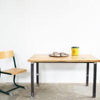 Loft design négyszemélyes műhelyasztal four-person worktable Arbeitstisch für vier Personen étkezőasztal dining table Esstisch íróasztal desk ipari industrial industriell shabby chic rusty style artkraft