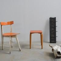 Loft design narancsszínű szék orange chair orange Stuhl seat Sitz étkezőszék dining chair Esszimmerstuhl