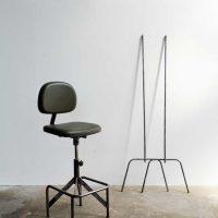 Loft design Ipari kárpitozott műbőr bárszék industrial leather upholstered bar stool chair Leder gepolsterten Barhocker shabby chic rusty style artkraft