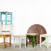 Loft design hokedli kitchen stool Hocker étkezőszék dining chair Esszimmerstuhl lerakó asztal side table Beistelltisch ipari industrial industriell shabby chic rusty style artkraft