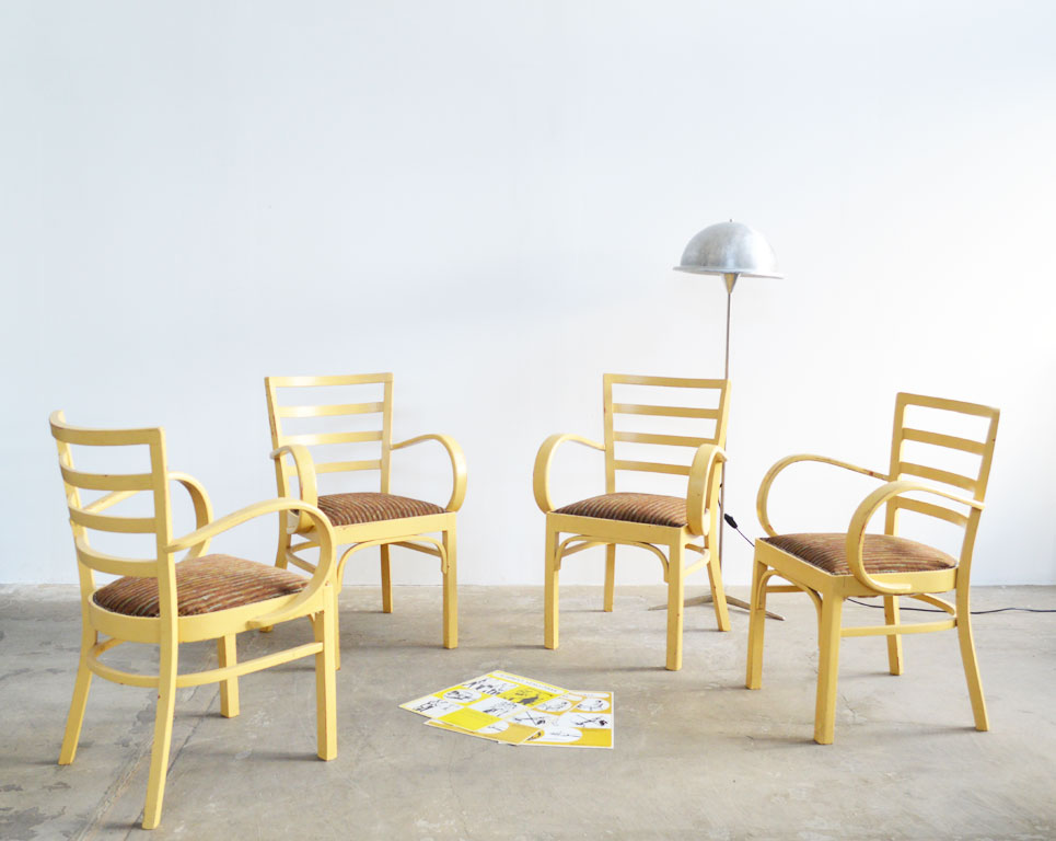 art deco st hle mit armlehnen 4 st artkraft loftdesign. Black Bedroom Furniture Sets. Home Design Ideas