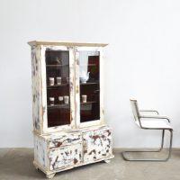 Loft design üveges szekrény cabinets Schränke vitrin könyves szekrény bookcase Bücherregal ipari industrial industriell shabby chic rusty style artkraft