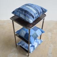 loft design újrahasznosított farmer párna recycled denim cushion recyceltem Denim Kissen