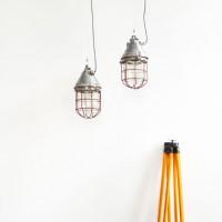 Loft design Régi robbanásbiztos ipari csarnok lámpa Old industrial lamp Alte Industrielampe artkraft