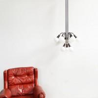 Loft design vörösréz mennyezeti lámpa Kupfer Deckenleuchte copper ceiling lamp csillár chandelier Kronleuchter shabby chic rusty style artkraft