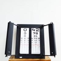 Loft design Orvosi szemészeti vizsgáló tábla betű szám Medical optic board Ärztekammer shabby chic rusty style artkraft