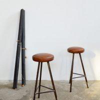 Loft design Ipari kárpitozott bőr bárszék industrial leather upholstered bar stool chair Leder gepolsterten Barhocker shabby chic rusty style artkraft