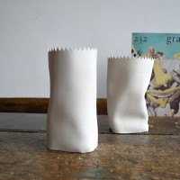 paper effect vase Judit Lantos ceramics