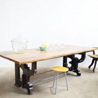 Loft design ipari industrial industriell étkezőasztal dining table Esstisch tárgyalóasztal Konferenztisch conference table