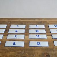 Loft design régi számozott zománctábla old enamel plate numbered alten Emailleschild nummeriert