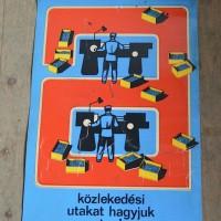 Loft design Régi plakát ipari munkavédelmi Old industrial posters Alte Arbeitsschutzplakate