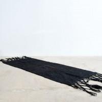 Loft design fekete gyapjúszőnyeg Schwarze Wollteppich Black wool carpet
