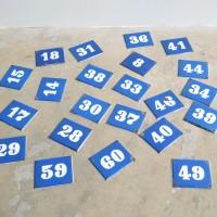 Loft design Régi zománctábla szám Emailleschild enamel plate házszám Address Adresse