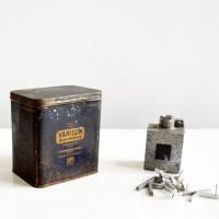 Loft design régi vaníliás doboz alte Vanille-Box old vanilla box Vanilin Boehringer