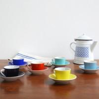 Loft design Drasche színes kávéskészlet color coffee set Farbe Kaffee kávéscsésze Kaffeetasse coffee cup