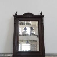Loft design fatükör wooden mirror Holzspiegel dekoráció decoration Dekoration