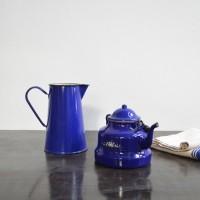 loft design régi zománc edények teáskanna old enamel tableware teapot Emaillegeschirr Teekanne