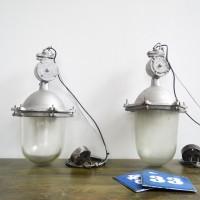 Loft design Régi robbanásbiztos ipari csarnok lámpa Old industrial lamp Alte Industrielampe