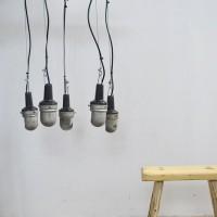 loft design régi ipari steklámpa csillár old industrial work lamps chandelier Alte Industrie arbeitsleuchten Kronleuchter