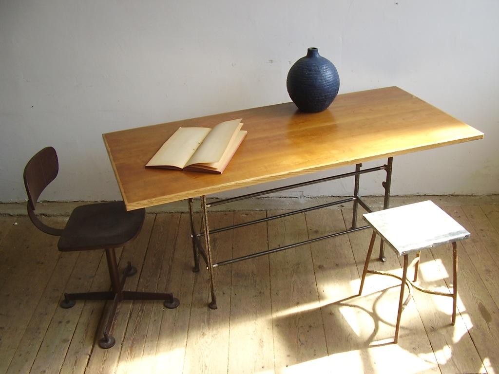 Loft design vintage bontott fa étkezőasztal old wood dinningtable ...